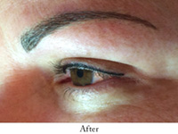 eyeliner before and after image